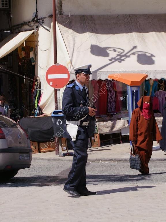 Moroccan Policeman, Tangier
