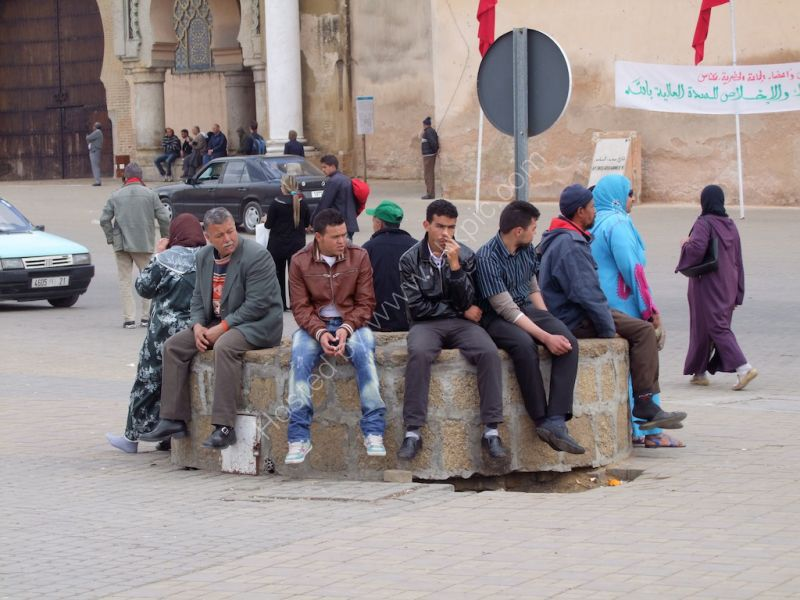 Moroccans Hanging About!, Meknes
