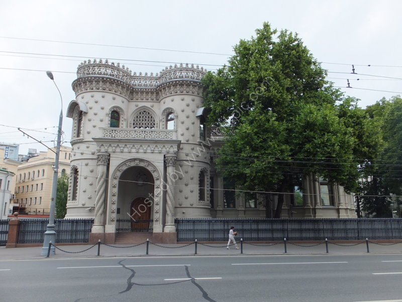 Unusual Building near Arabat Square, Moscow