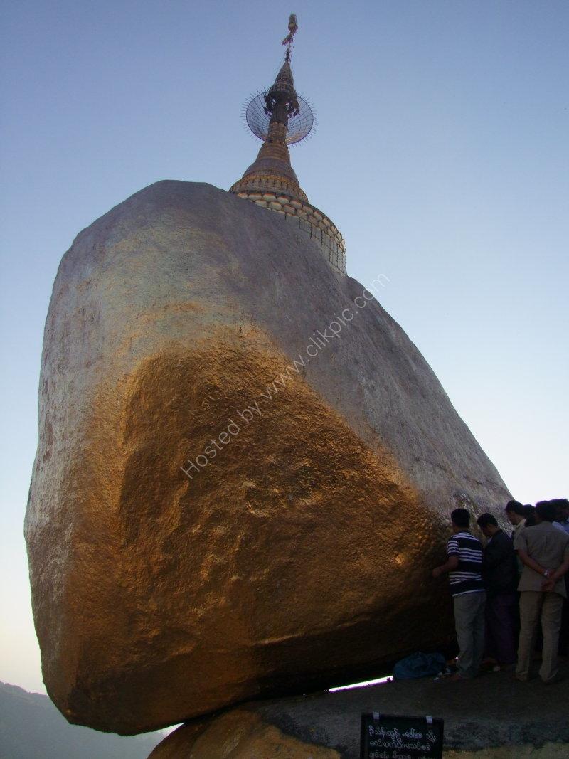 Golden Rock at Mount Kyaiktiyo Pagoda