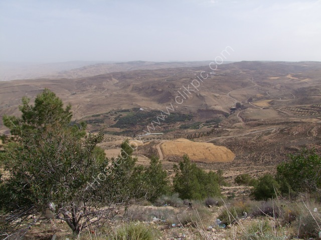 View of Jordanian Countryside from Mount Nebo