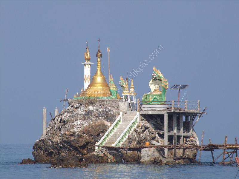 Pagoda on the Rock at Ngapali Bay