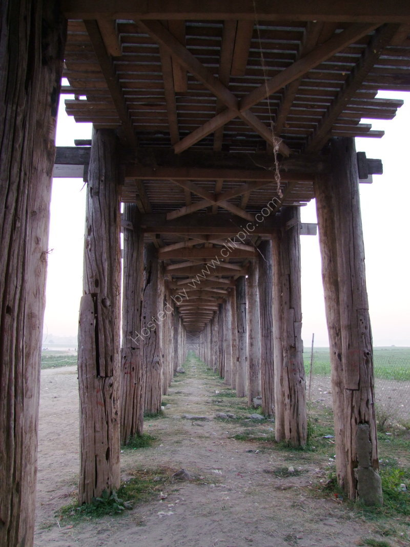 Underneath Old U Bein Teak Bridge (built 1782)