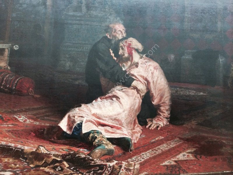 Painting of Ivan the Terrible with Son Ivan, Hermitage Museum