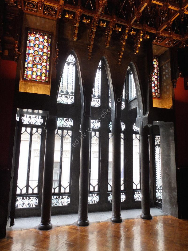 Gaudi Bay Window from Inside