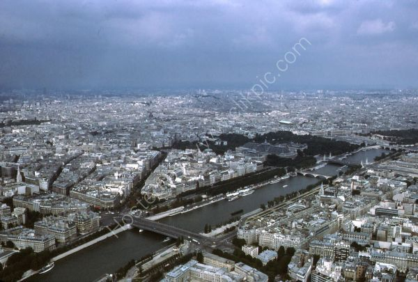View of Paris from Eiffel Tower, Paris