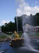 Fountain in Fountain Gardens of Peterhof