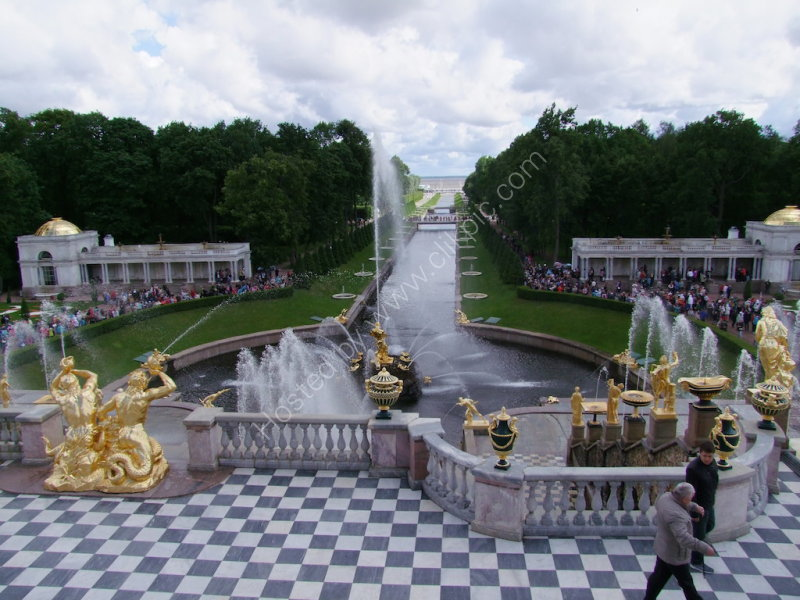 Marine Canal & Fountain Gardens, Peterhof