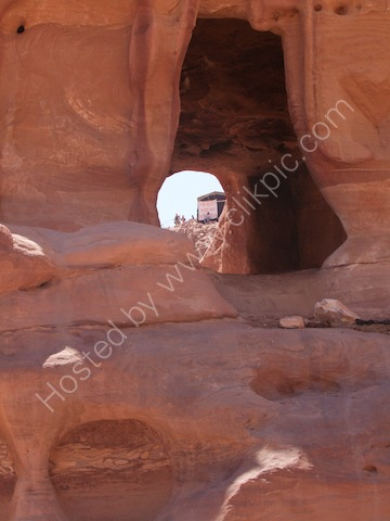 Rock Formation in Area in front of Ad-Dayr (The Monastery), Petra