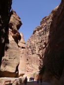 Looking through As-Siq Gorge, Petra