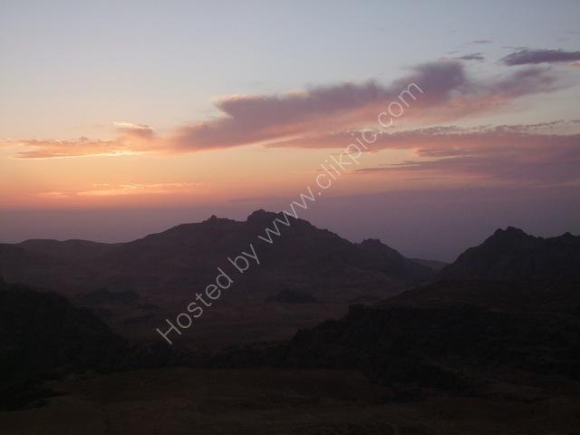 Sunset over Wadi Musa from Panorama Hotel, Petra