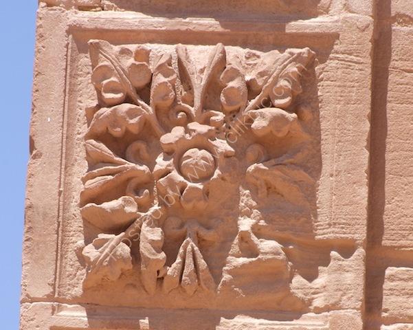 Detail on Temenos Gate, Petra