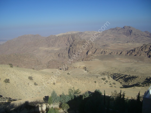 View of Wadi Musa from Panorama Hotel, Petra