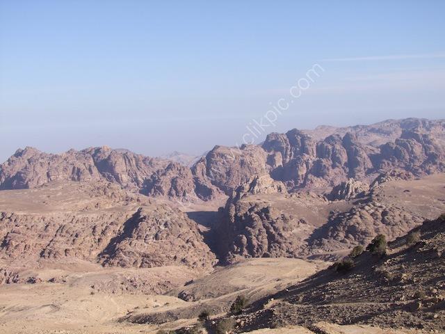 View of Wadi Musa from Panorama Hotel, Petra