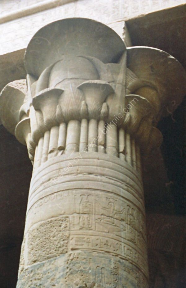 Pillar on Kiosk of Trajan, Philae Temple, Agilkia Island, Aswan