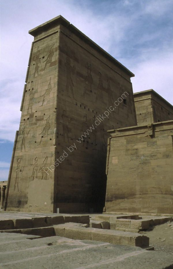Pylon, Temple of Isis, Philae, Agilkia Island, Aswan