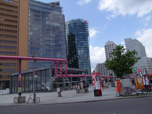 Pink Pipes of Potsdamerplatz, Berlin
