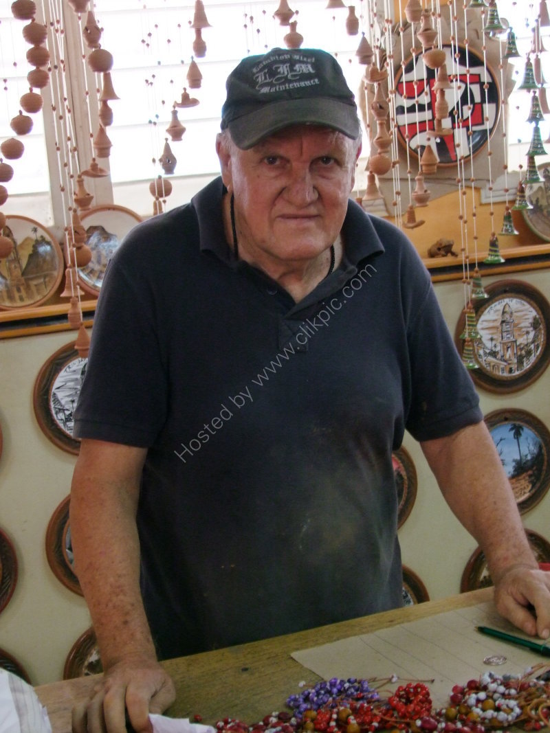 Cuban Pottery Owner, Trinidad