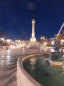 Praca Dom Pedro IV at Night