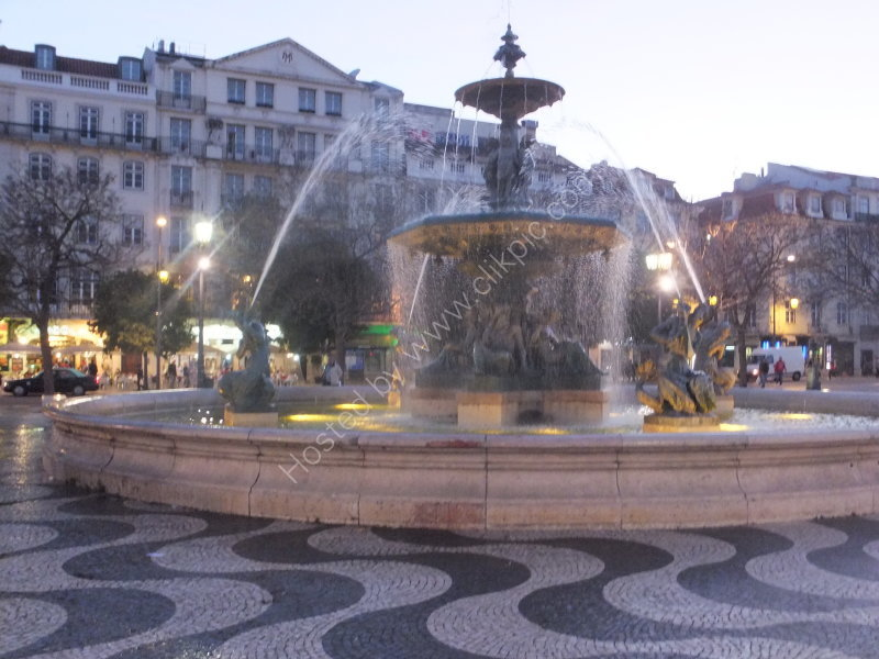 Fountain at Dusk