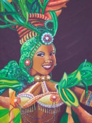 Painting of Tropicana Dancer, Prado, Havana