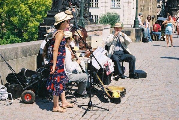 Musicians on Charles Bridge, Prague