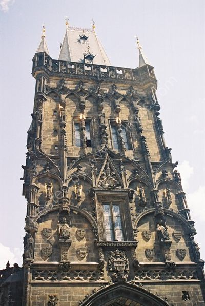 View of Powder Gate, Prague