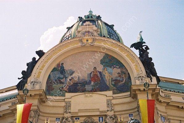"""Mosaic """"Homage to Prague"""", Municipal House, Old Town, Prague"""