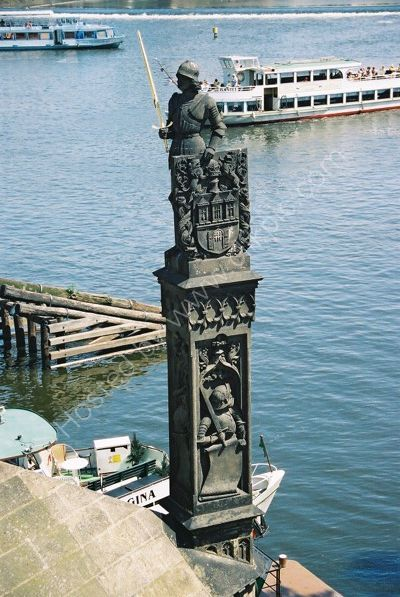 Detail on Charles Bridge, Prague