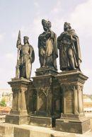 St Norbert, St Wenceslas & St Sigismund, 1853, Charles Bridge, Prague