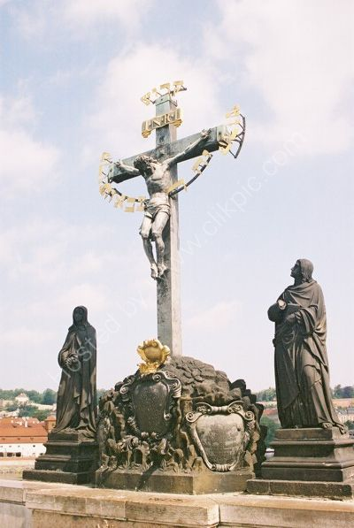 17th Century Crucifixion, Charles Bridge, Prague