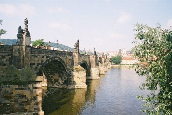 Charles Bridge view from Old Town Side, Prague