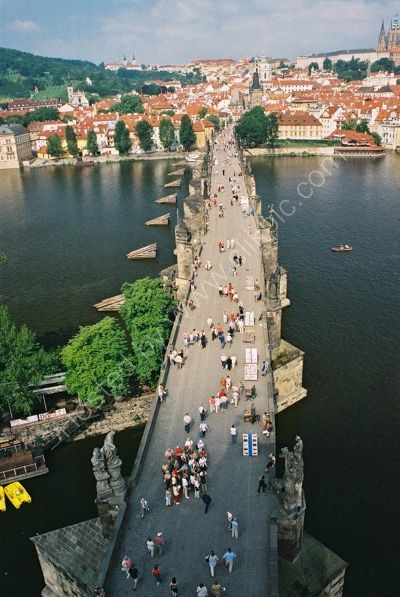 Charles Bridge looking from Old Town Side, Prague