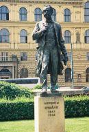 Statue of Antonin Duvorak outside Rudolfinum, Old Town, Prague