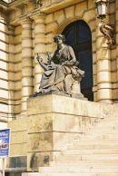 Statue at Entrance to Rudolfinum, Old Town, Prague