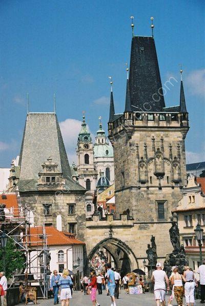 Little Quarter Bridge Tower & Judith Bridge Tower (1158), Charles Bridge, Prague