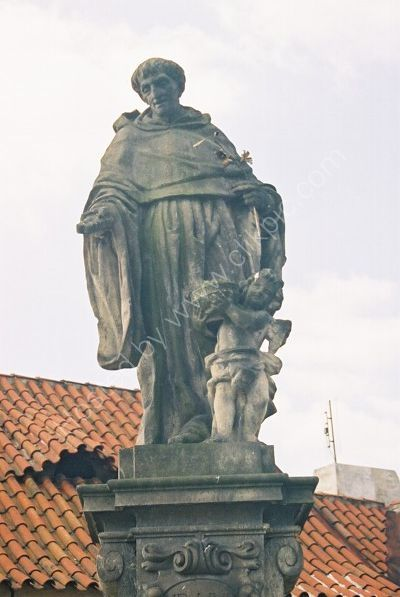 St Nicholas Tolentino, 1708, Charles Bridge, Prague