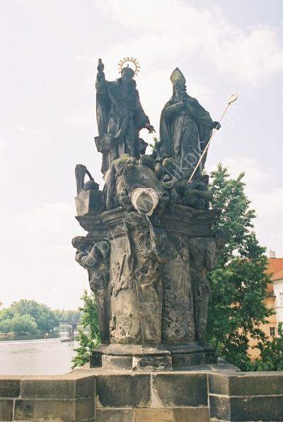 St Vincent Ferrer & St Procopius, 1712, Charles Bridge, Prague
