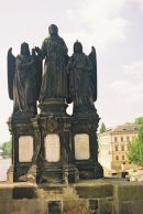 St Francis of Assisi with two Angels, 1855, Charles Bridge, Prague