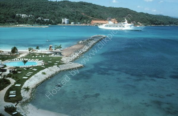 Private Beach of Intercontinental Hotel, Ocho Rios