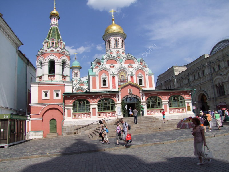 Newly Built Church on edge of Red Square, Moscow