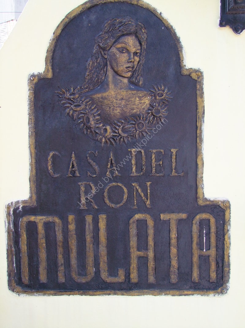 Casa del ron Mulata Sign, Remedios