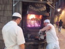 Street side Barbecue, Los Caracoles Restaurant