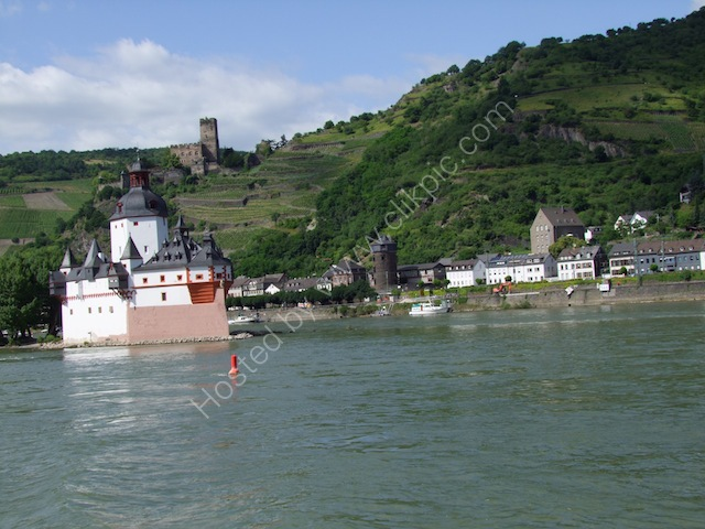 Island Castle in Rhine & Castle on Hills