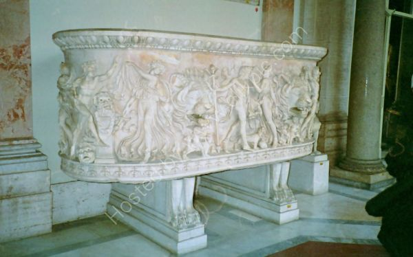 Carved Marble Sarcophagus, Rome