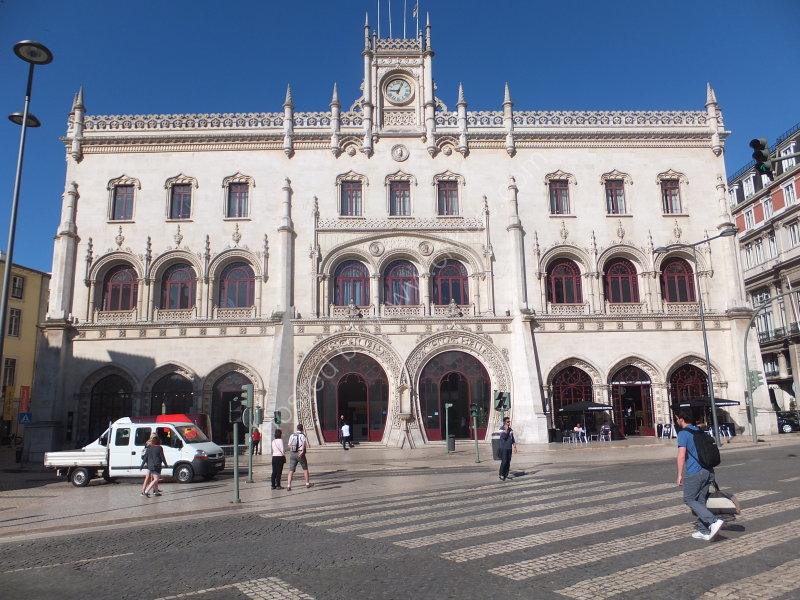 Facade of Rossio Train Station