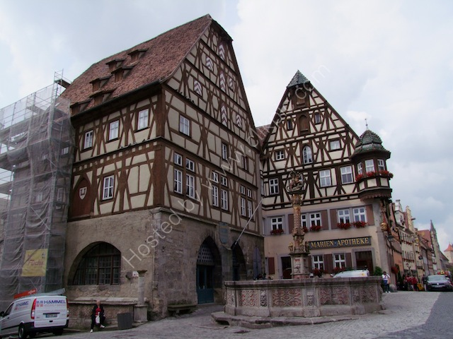 Meat & Dance Hall & St George's Fountain, Rothenburg