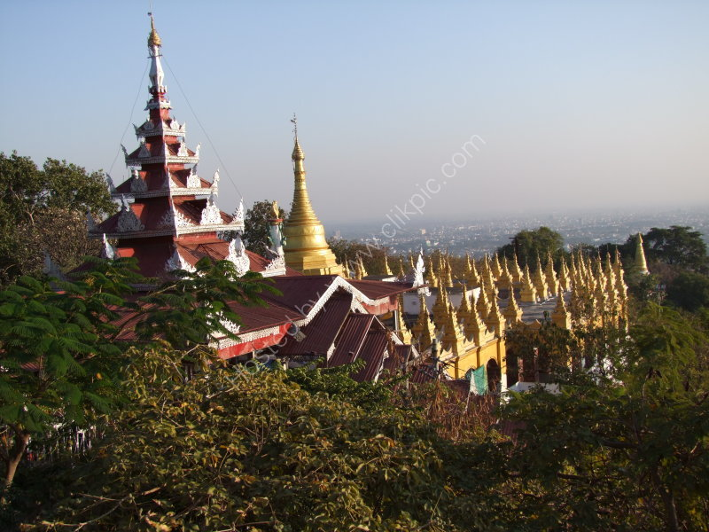 Oo Pon Nya Shin Pagoda in Sunset Light