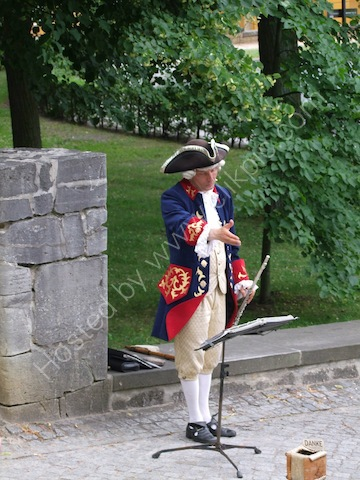 Fluitist in Costume, Sanssouci Palace, Potsdam