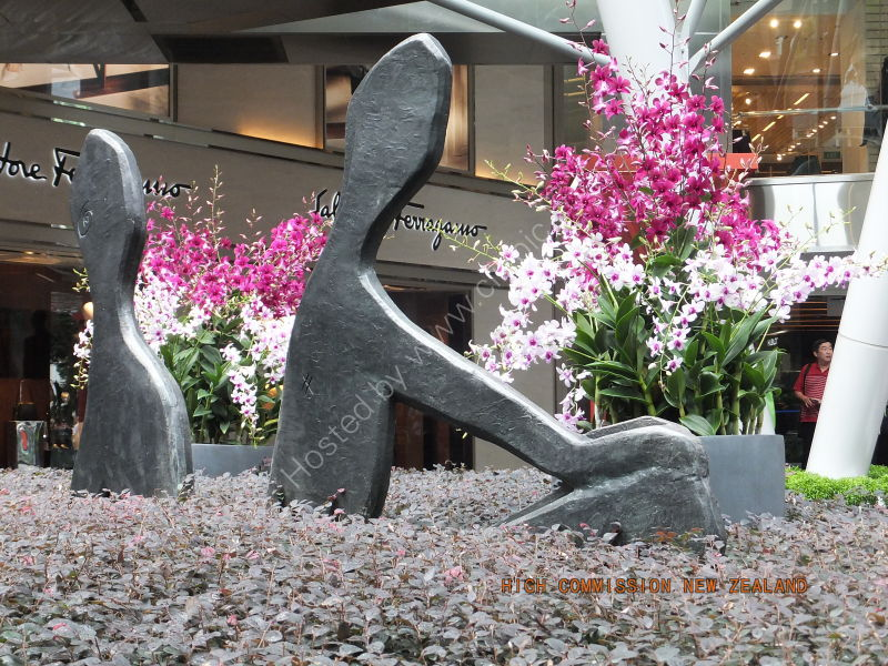 Sculpture & Orchids, Orchard Road